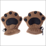 Bear Hands Camel Fleece Mittens