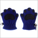 Bear Hands Cobalt Blue Youth Fleece Mittens