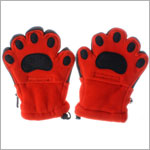 Bear Hands Bright Orange Youth Fleece Mittens