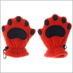Bear Hands Bright Orange Fleece Mittens