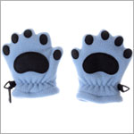 Bear Hands Powder Blue Fleece Mittens