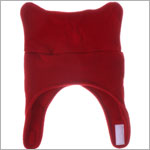 Bear Hands Red Fleece Chin Strap Hat