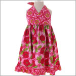 Beary Basics *Rose Garden* Fuschia/Pink/Green Halter Dress