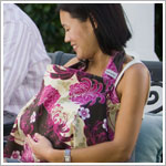 Bebe au Lait PAPILLON Fuchsia/Cream/Brown Nursing Cover