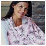 Bebe au Lait PARFAIT Pink/Brown Nursing Cover