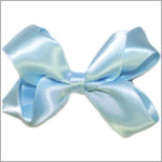 Blooming Bows Pale Blue Mini Satin Clippie