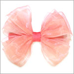 Blooming Bows Coral Classic Barrette