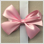 Blooming Bows Light Pink Satin Barrette