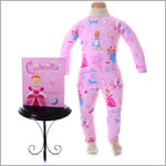 II: Books to Bed *Cinderella* Pink 2pc L/S Jammie Set with Book
