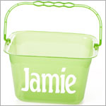Personalized Bucket w/ Handle *Green or Blue*