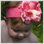Z: Candy Pink Rose Headband