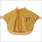 Catimini Yellow/Orange Hooded Poncho w/ Sleeves