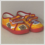 II: Clayeux Orange Double Velcro Bear Shoes