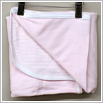Coccoli Pink Solid and Striped Double Layer Blanket
