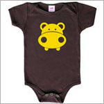 Colette Kids S/S Chocolate Randall Hippo Bodysuit