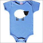 Colette Kids S/S Blue Dallas Sheep Bodysuit