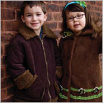 Corky & Company Strike A Cord Brown Aviator Coat