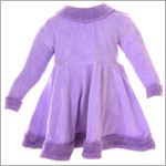 6m/12m II: Cotton Caboodle Lilac Velour Skater Dress