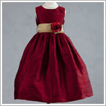 Z: Crayon Kids Red Sleeveless Dress w/ Flower