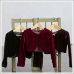 Z: Crayon Kids BURGUNDY Stretch Velvet Cardigan