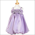 Z: Crayon Kids PURPLE Strappy Tri-Flower Bubble Dress