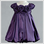Crayon Kids PURPLE S/S Tri-Flower Bubble Dress *WOW!*