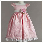 Z: Crayon Kids Pink Cap Sleeve Embroidered Dress