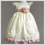 Z: Crayon Kids Ivory Cap Sleeve Embroidered Dress