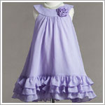 Z: Crayon Kids Lavender Yoke Collar Dress w/ Ruffle Trio