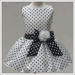 Z: Crayon Kids White w/ Black Dots Sleeveless Drop Waist Dress & Sash
