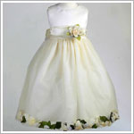 Z: Crayon Kids Ivory Sleeveless Petal Dress