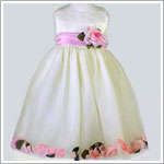 Z: Crayon Kids Ivory/Light Pink Sleeveless Petal Dress