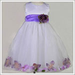Z: Crayon Kids White/Lavender Sleeveless Petal Dress