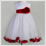 Z: Crayon Kids White/Red Sleeveless Petal Dress