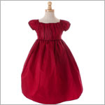Crayon Kids Red Gathered Dress