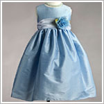 Z: Crayon Kids Blue Sleeveless Dress w/ Flower