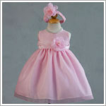 Z: Crayon Kids Pink Sleeveless Infant Dress & Headband Set