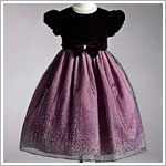 Z: Crayon Kids Dusty Rose S/S Dress w/ Holiday Glamour Skirt