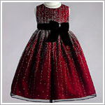Z: Crayon Kids Red Sleeveless Holiday Glamour Dress *WOW!*