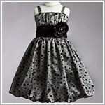 Z: Crayon Kids Silver Strappy Bubble Dress w/ Black Dots
