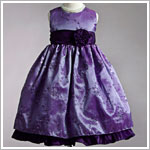 Z: Crayon Kids Purple Sleeveless Embroidered Flower Vine Ruffle Dress
