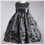 Z: Crayon Kids Silver Sleeveless Chrysanthemum Dress