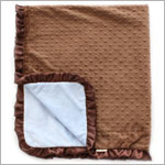 II: Crystaleigh Baby *Cocoa* Blue & Cocoa Crib Blanket