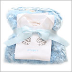 II: Crystaleigh Baby *Angel* Blue Bodysuit & Travel Blanket