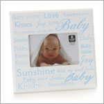 Cupecoy Home Fashions Wooden Blue Photo Frame w/ Baby Expressions