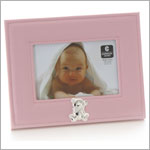 Cupecoy Home Fashions Baby Pink Stuffed Leather Photo Frame