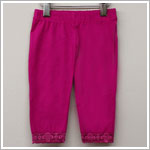 Danica and Dylan Fuschia Capri Leggings w/ Lace Trim