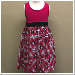 Danica and Dylan Fuchsia Tank Dress with Floral Skirt