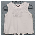 Frillys White Tank Top w/ Flower