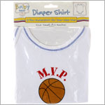 Ganz White/Blue M.V.P. Basketball S/S Bodysuit